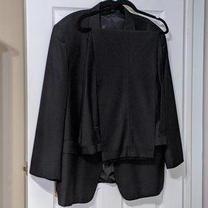 FELLINI UOMO Men's Black Three Button Suits